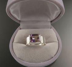 Ametrine Ring Sterling Silver Bezel set East by stonefeverjewelry