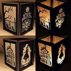 Haunted Mansion Inspired Lantern by PracPerfCrafts on Etsy Haunted Mansion Disney, Haunted Mansion Decor, Haunted Mansion Halloween, Disney Home Decor, Disney Diy, Disney Crafts, Halloween Make, Holidays Halloween, Halloween 2019