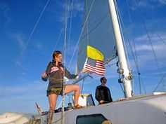 "It is customary to fly a yellow ""Q"" flag from your starboard flag halyard prior to clearing customs; for many foreign officials, such procedures are still important"