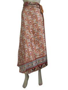 Amazon.com: Sarong Vintage Sari Long Skirt Dress with Open Waist Wrap Around Skirts Indiatrendzs: Clothing