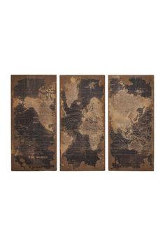 Wood Wall Panels - Set of 3