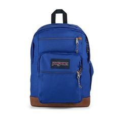 """All the great features of Jansport Big Student, plus a sleeve for a 15 inch"""" laptop and synthetic leather base & trim. Extra large capacity. Water bottle pocket. Premium details and fabrics Handbags For School, S Curves, Jansport Backpack, School Backpacks, Travel Accessories, Evening Bags, Laptop Sleeves, Vegan Leather, Fashion Backpack"""