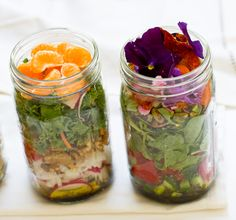 """Salad. In a jar.  I totally get this one.   A while back (and maybe still) there was a spirited """"foods in a jar""""  trend hovering around the..."""
