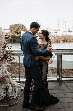 Detailed to perfection - a simply elegant touch to a modern wedding scene. Captured on Brisbane's divine riverside venue location - Blackbird. Brisbane River, Wedding Scene, Bar Grill, Lace Weddings, Georgia, Touch, Gowns, Inspired, Vestidos