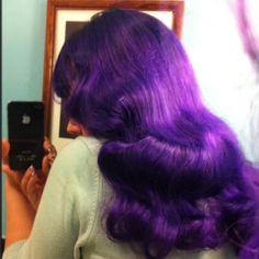 Purple Rockabilly hair
