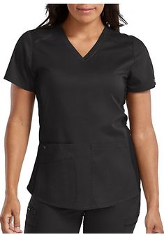 The Med Couture Touch Kerri Shirttail Hem Vneck Scrub Top is made with stretch fabric and roomy pockets. Logo Process, Scrub Tops, V Neck Tops, Stretch Fabric, Scrubs, Couture, Christmas, Shopping, Women