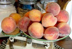 The Country Farm Home: Making Amish Peach Jam amishrecipes Peach Preserves, Peach Jam, Amish Recipes, Fun Easy Recipes, Jelly Recipes, Jam Recipes, Cooker Recipes, Vegan Recipes, Satsuma Recipes