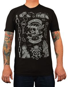 f8fc4f8d84 Men's Biker Flash by Adi Black Market Old School Tattoos Art T Shirt Tattoo  T Shirts