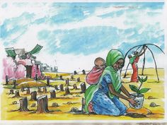 Artwork such as this painting helps communities remember that resiliency is a part of the Somali way of life. Community sessions have been developed by The Somali Youth & Development Network (http://www.soyden.org/) & the Center for Research & Dialogue (http://www.crdsomalia.org/). Quraca Nabadda are a coalition of Somali led organisations working to build peace & reconciliation, nurture culture & arts, & promote positive Somali stories. #somalia #peace #reconciliation #mogadishu