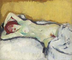 Kees van Dongen, La dormeuse, Mika nue sur un divan, 1908 on ArtStack #kees-van-dongen #art