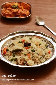veg pulao is a tasty and easy to make rice dish made with loads of vegetables. Pulao is a very tasty dish prepared in many Indian houses. Rice Recipes For Lunch, Easy Rice Recipes, Vegetable Recipes, Healthy Indian Recipes, Vegetarian Recipes, Cooking Recipes, What's Cooking, Veg Pulao Recipe, Paneer Recipes