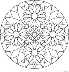 Easy coloring book pages mandala adult coloring books pages perfect geometric easy for home improvements catalog Mandala Art, Mandalas Painting, Mandalas Drawing, Mandala Coloring Pages, Mandala Pattern, Zentangle Patterns, Coloring Book Pages, Dot Painting, Printable Coloring Pages