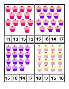 Tarjetas para aprender los números, Motivos Cupcakes (6) Numbers Kindergarten, Kindergarten Math Activities, Numbers Preschool, Learning Numbers, Preschool Math, Fun Worksheets For Kids, 3rd Grade Math Worksheets, Math For Kids, Preschool Worksheets