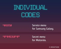 13 Secret Functions of Your Cell Phone You Had No Idea ExistedCell Phone Tips And Tricks For NovicesCheapest Cell Phones In The PhilippinesCan Cell Phones Cause Headaches Android Phone Hacks, Cell Phone Hacks, Best Cell Phone, Smartphone Hacks, Android Secret Codes, Android Codes, Secret Menu, Mobile Code, Phone Codes