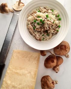 Shiitake' happens! Tonight we enjoyed Shiitake risotto with sweet peas ...