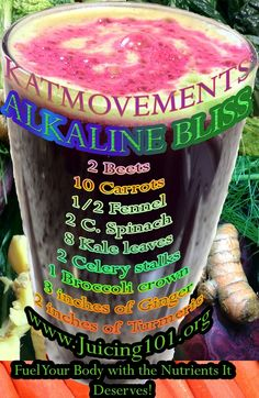 ALKALINE BLISS JUICE RECIPE To Your Health! Kat =^.^= http://www.facebook.com/JUICING101 http://pinterest.com/katmovements