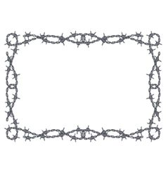 barbed wire Images Clip Art | Barbed wire frame vector 719201 - by 100ker