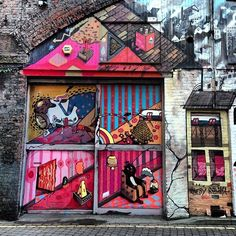 #StreetArt ~ Sickboy - Eurocultured Manchester 2012   Cute!!. #sickboy http://www.widewalls.ch/artist/sickboy/