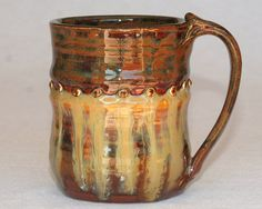 Stoneware mug handthrown pottery 12oz by DrostePottery on Etsy, $17.00