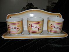 French Vintage Graniteware/Enamelware Seife, Soda & Sand Laundry Rack - signed