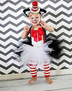 Only if I was creative :) Girls Posh Cat In The Hat Halloween Birthday Dress Up Costume Halloween Birthday, Holidays Halloween, Halloween Outfits, Halloween Diy, Happy Halloween, Halloween Costumes, 3rd Birthday, Dr. Seuss, Dress Up Costumes