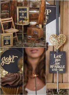 Rustic wedding ideas #goldwedding #desserttable #rusticwedding #weddingdecor #weddingideas