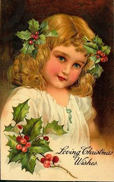 victorian cards | Vintage Victorian Christmas Girl Christmas Postcard #5 | The Doodle ...