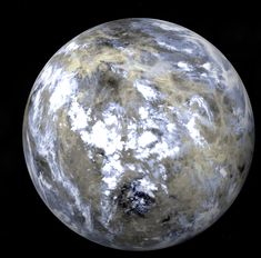 Dwarf planet Ceres in the asteroid belt. More than double the size of Pluto. USA probe arrives next year.
