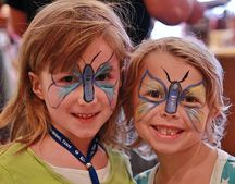 face painting is a big hit every year