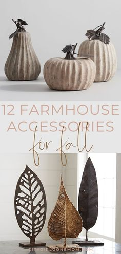 12 Farmhouse Accessories to Make Your Home Perfect for Fall Fall Decorating Ideas. This season, we took stock of our absolute must-have fall farmhouse accessories to give your livi. Modern Farmhouse Interiors, Farmhouse Furniture, Farmhouse Style, Fall Home Decor, Autumn Home, Fall City, Decorating Your Home, Fall Decorating, Fall Arrangements