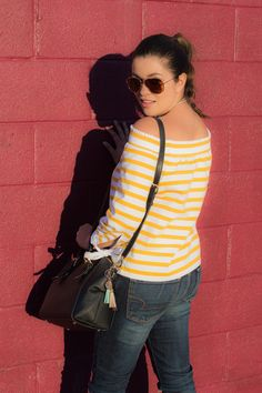 Timeless Optimist blog || ootd, fashion blogger, outfit, off the shoulder top, j crew, long sleeve, winter, spring, spring fashion, winter fashion, jeans, with jeans, dressy, with chocker, yellow, petite fashion, classy, preppy, pretty, latina blogger, latina, 2017