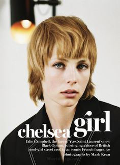 I Had This Haircut When I Was Little! Wish I Could Still Pull This Off..  Edie Campbell For Marie Claire US May 2015