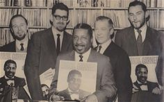 Dobells record shop quickly became a regular meeting place for visiting American jazz greats. Roy Eldridge, Ben Webster, Henry Red Allen, Errol Garner (below in Dobell's in 1962) and most of the Duke Ellington band were regular visitors, buying up rare Blue Notes, Riversides, Topics Folkways and Blue Horizons LPs and 78s.