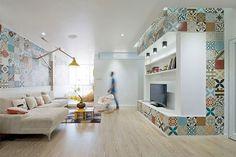 Azulejo hidráulico: protagonista de la reforma de este apartamento en Vietnam