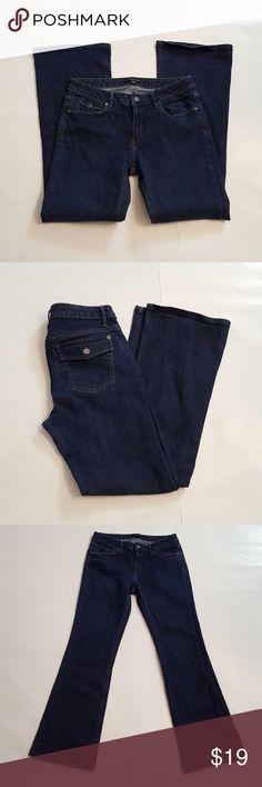 "Banana Republic Bootcut Jeans Banana Republic Bootcut Jeans. Size 10R. 98% cotton, 2% spandex. Measurements: 32"" waist, 36"" hips, 39 1/2"" length, 31 1/2"" inseam. Banana Republic Jeans Boot Cut"