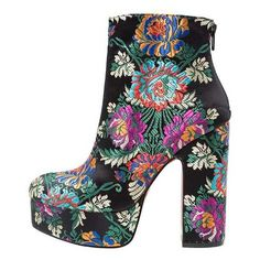 CHANAH Platform boots black (505 BRL) ❤ liked on Polyvore featuring shoes, boots, black platform shoes, black shoes, platform shoes, black platform boots and black boots