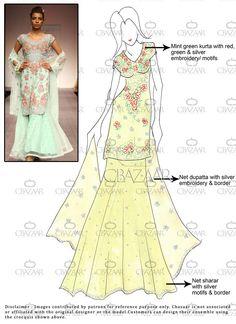 DIY Green Georgette #Sharara Suit