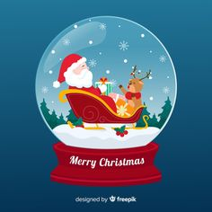 Christmas snowball glove with santa clau. Christmas Images Free, Merry Christmas Vector, Christmas Cards, Christmas Decorations, Christmas Tree, After Christmas Sales, People In The Us, Snowball, Snow Globes