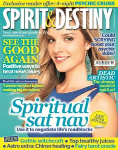 """In this Issue:    EXCLUSIVE READER OFFER: 4 Night PSYCHIC CRUISE.    Spiritual Sat Nav - Use it to Negotiate life's roadblocks.    Could Scrying boost your psychic skills?    See the good again - positive ways to beat the news blues    Real life astro obsessions - """"I check my stars before making big decisions""""    Dead Artistic - The strange world of spiritual art    PLUS Gothic witchcraft, Top healthy juices, Astro extra: Chiron healing, fairy tarot oracle"""