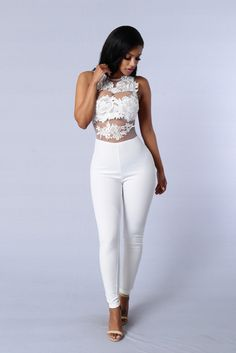 Sweet Revenge Jumpsuit - White | Fashion Nova