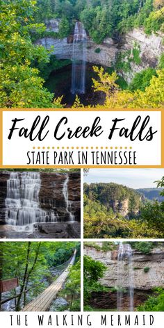 Fall Creek Falls State Park in Tennessee is home to many gorgeous waterfalls creeks cascades and hiking trails In this guide you can find all of the details for the best. Vacation Places, Dream Vacations, Vacation Spots, Places To Travel, Travel Destinations, Places To Visit, Travel Diys, Greece Vacation, Vacation Ideas