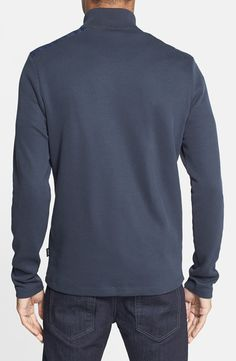 BOSS HUGO BOSS 'Piceno' Regular Fit Quarter Zip Sweatshirt | Nordstrom