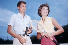 Jack and Jackie in Hyannis Port during their engagement, in 1953