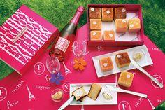 フォションよりお花見に最適な「キューブパン」桜の花びら散る3種のパンとクリーム、マットがセットに   ニュース - ファッションプレス