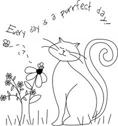 every-day-is-a-purrfect-day... free hand embroidery pattern download.