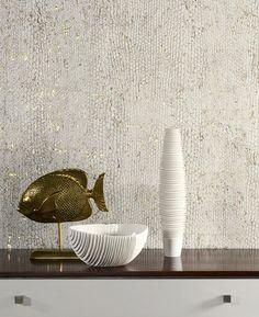 Omexco: kurk behang met zilver / goud