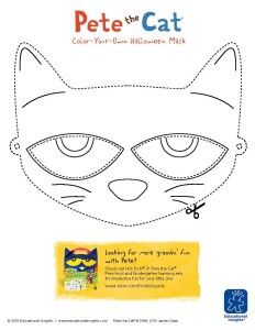 Download and color a FREE Pete the Cat mask, perfect for preschool play!