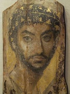 Mummy Portrait, Encaustic on Wood, Fayum Egypt, Roman Period 2nd Century CE