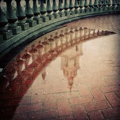 codesweeper | Reflection | earth tone + brown green + reflection water church architecture