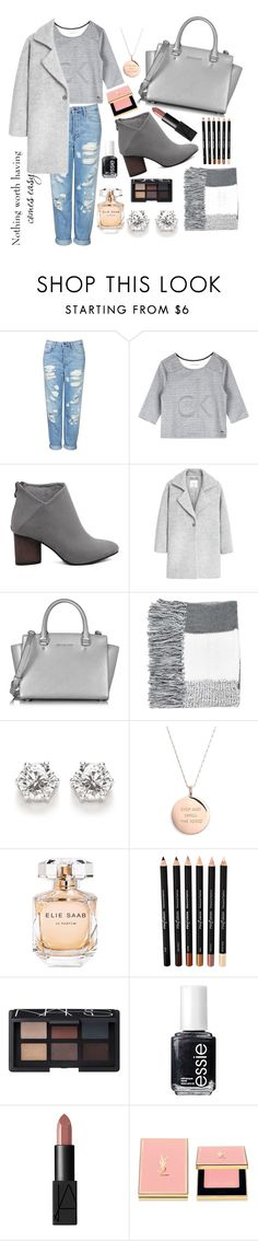 """""""#5"""" by aghxq ❤ liked on Polyvore featuring Topshop, Calvin Klein, MANGO, Michael Kors, Kate Spade, Elie Saab, NARS Cosmetics, Essie and Yves Saint Laurent"""
